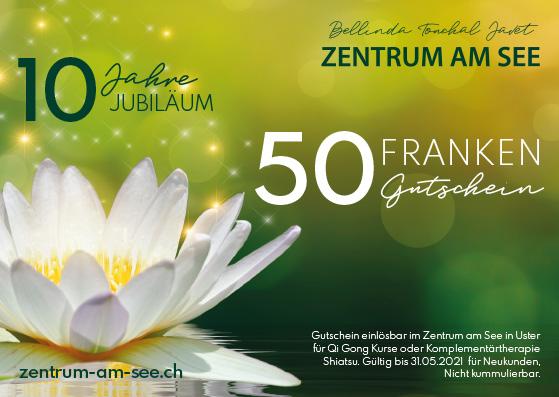 50 Franken Gutschein Zentrum am See